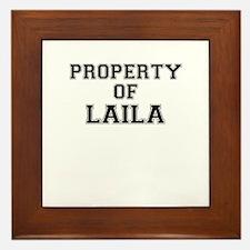 Property of LAILA Framed Tile
