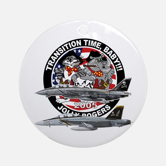 F-14 Jolly Rogers Ornament (Round)