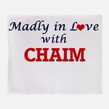 Madly in love with Chaim Throw Blanket