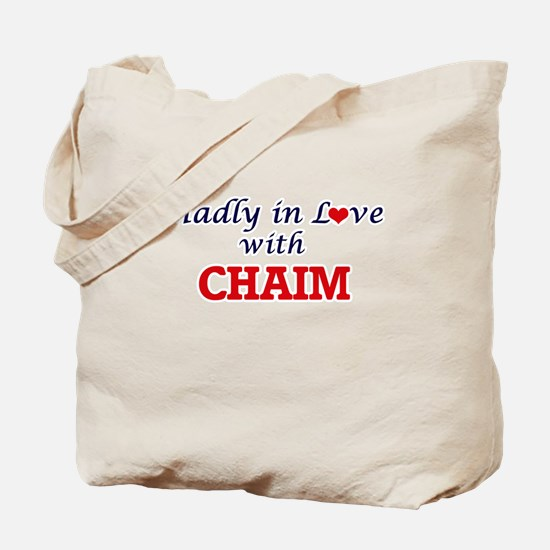 Madly in love with Chaim Tote Bag