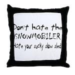 Sucky Slow Sled Throw Pillow