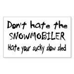 Sucky Slow Sled Rectangle Sticker