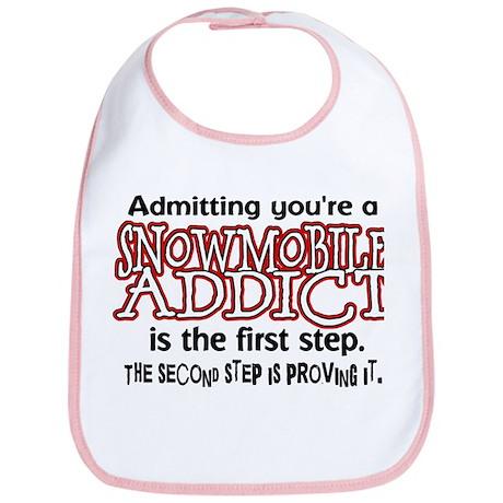 Admitting vs Proving Snowmobile Addict Bib