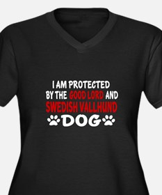 Protected By Women's Plus Size V-Neck Dark T-Shirt