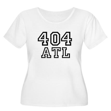 404 Atlanta ATL 10 Women's Plus Size Scoop Neck T-