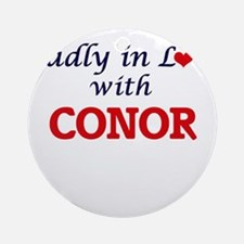 Madly in love with Conor Round Ornament