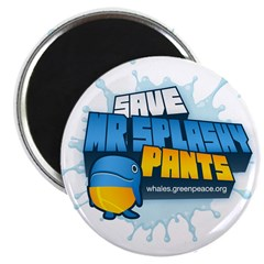 Mr Splashypants curb Magnet