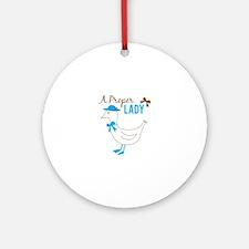 Proper Lady Round Ornament