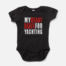 My Hear Beats For Yachting Baby Bodysuit