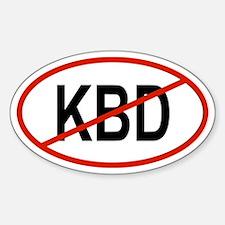 KBD Oval Decal