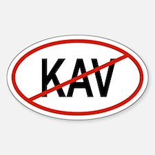 KAV Oval Decal