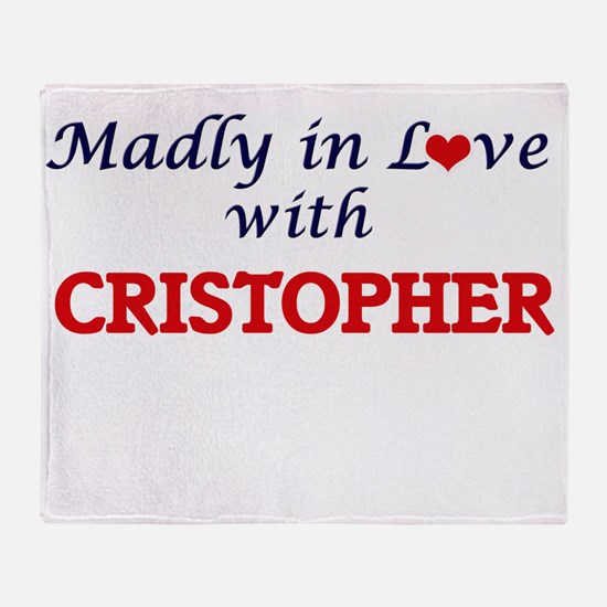 Madly in love with Cristopher Throw Blanket
