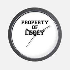 Property of LESLY Wall Clock