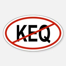 KEQ Oval Decal