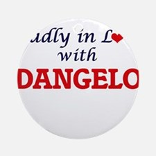Madly in love with Dangelo Round Ornament