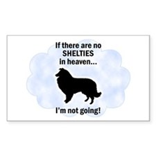 Shelties In Heaven Rectangle Decal