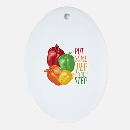 Pep In Step Oval Ornament