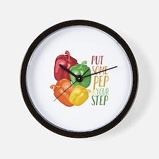Pep In Step Wall Clock