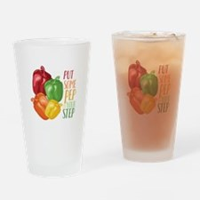Pep In Step Drinking Glass
