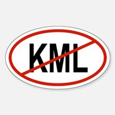 KML Oval Decal