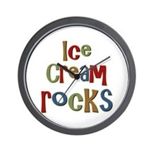 Ice Cream Frozen Dessert Lover Wall Clock