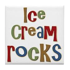 Ice Cream Frozen Dessert Lover Tile Coaster