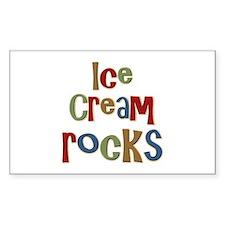 Ice Cream Frozen Dessert Lover Sticker (Rectangula