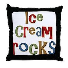Ice Cream Frozen Dessert Lover Throw Pillow