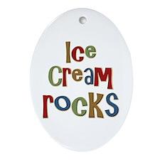 Ice Cream Frozen Dessert Lover Oval Ornament