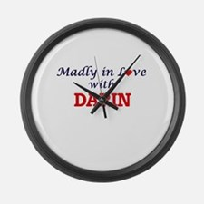 Madly in love with Darin Large Wall Clock