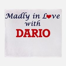 Madly in love with Dario Throw Blanket