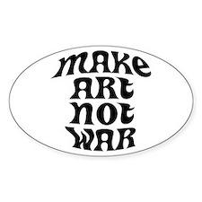Make Art Not War Oval Decal