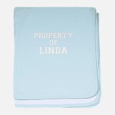 Property of LINDA baby blanket