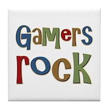 Gamers Rock RPG Video Geek Tile Coaster