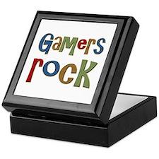 Gamers Rock RPG Video Geek Keepsake Box