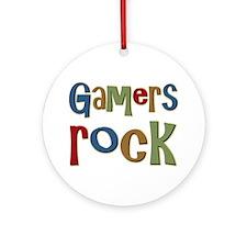 Gamers Rock RPG Video Geek Ornament (Round)