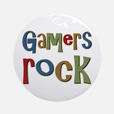 Gamers Rock RPG Video Geek Ornament (Round)