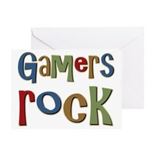 Gamers Rock RPG Video Geek Greeting Card