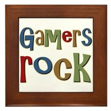Gamers Rock RPG Video Geek Framed Tile