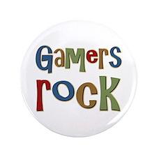 "Gamers Rock RPG Video Geek 3.5"" Button"