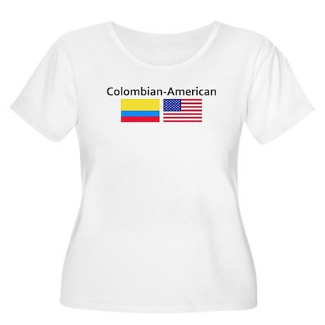Colombian American Women's Plus Size Scoop Neck T-