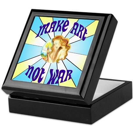 Make Art Not War Keepsake Box