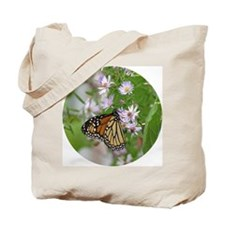 Monarch on Wild Asters Tote Bag