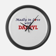 Madly in love with Darryl Large Wall Clock
