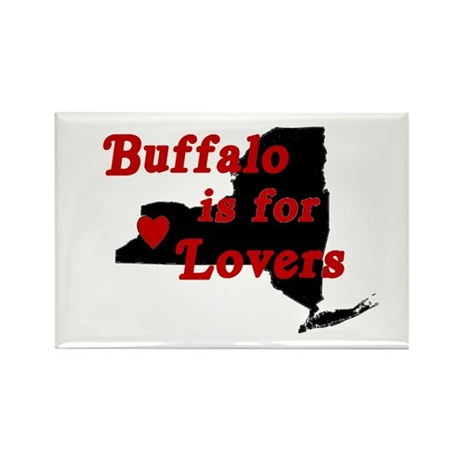 Bflo is for Lovers Rectangle Magnet