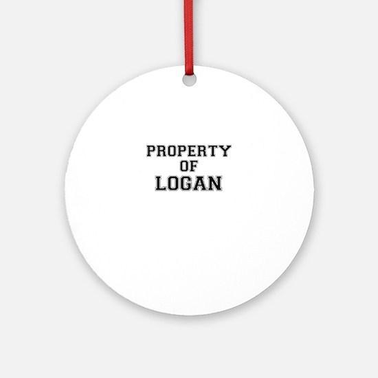 Property of LOGAN Round Ornament