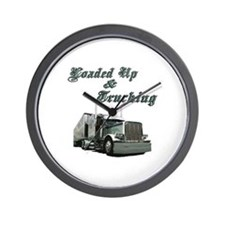 Loaded Up & Trucking Wall Clock