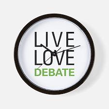 Live Love Debate Wall Clock