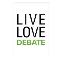 Live Love Debate Postcards (Package of 8)