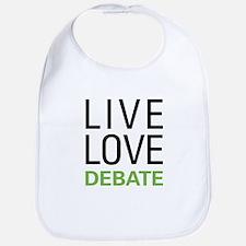Live Love Debate Bib